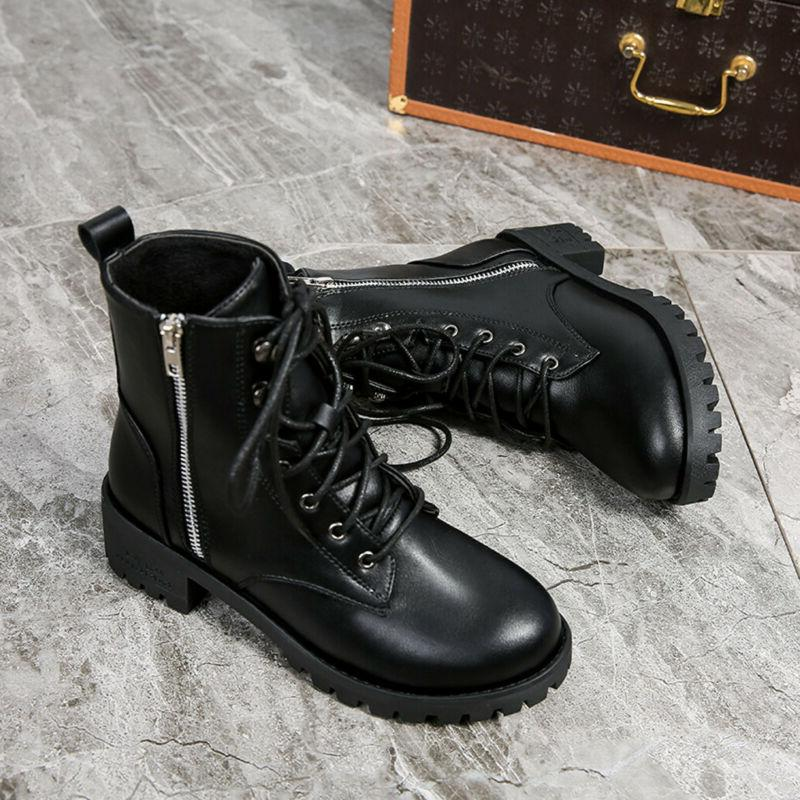 Women's Ladies Leather Motorcycle Shoes