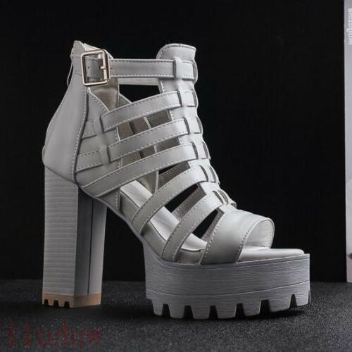 Women's Sandals Boots Roma Riding High Block