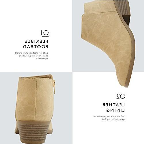 DailyShoes Bootie - Ultra Comfortable and on Closed - Chunky Ankle Any Occasion, B US