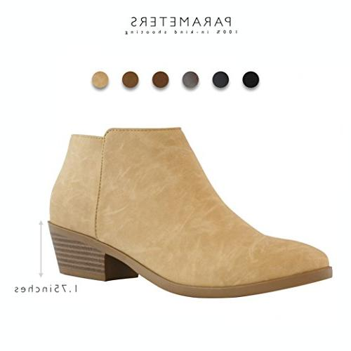 DailyShoes Bootie and Soft on Closed Pointed - Heel Ankle Boots for Occasion, B
