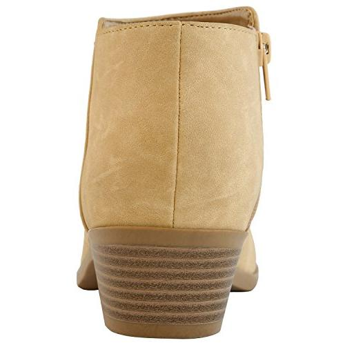 DailyShoes Women's Bootie and Soft Lining on Heel Closed - Chunky Heel Ankle Occasion, PU, B
