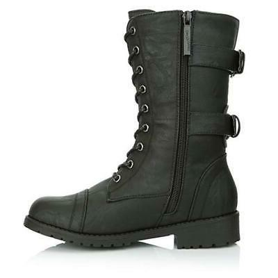 Women's Zip motorcycle Boots Lace Up