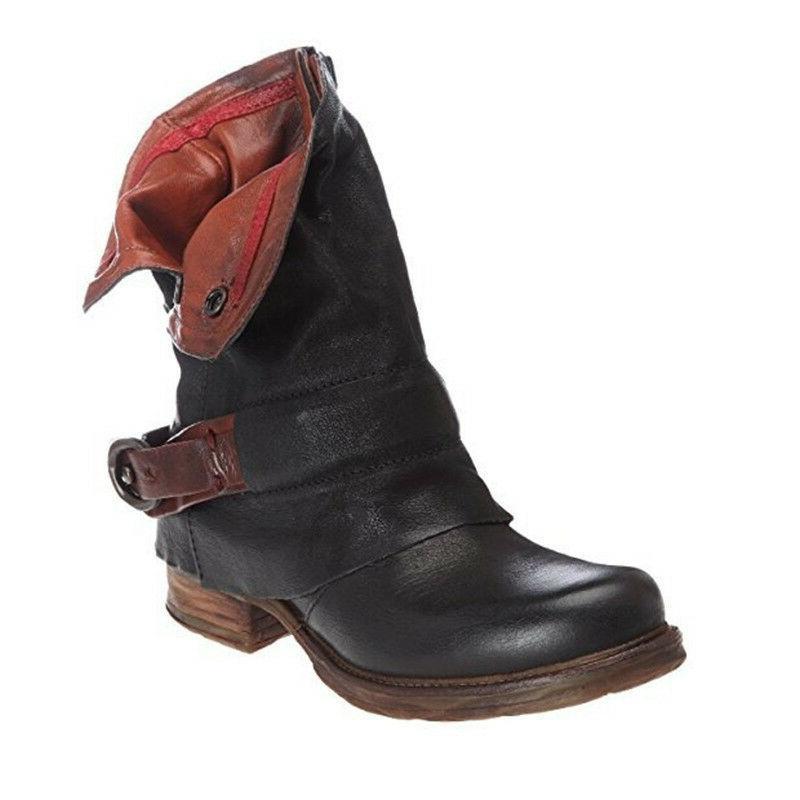 Women Biker Low Heel Boots