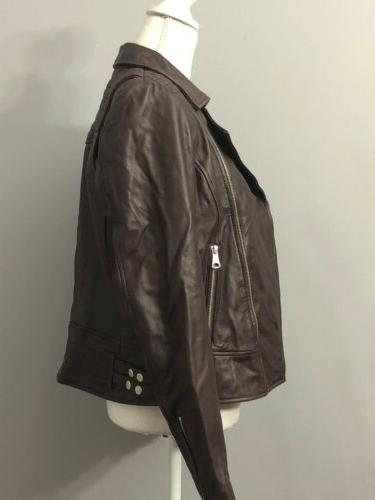 Marc York Andrew Womens Leather Motorcycle Size L $480