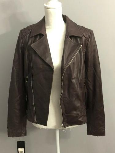 Marc New Andrew Marc Womens Leather Motorcycle L $480