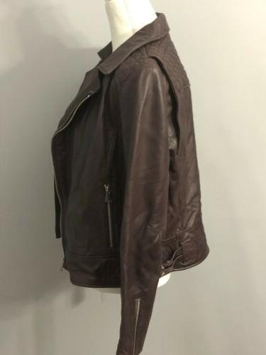 Marc York Andrew Marc Womens Leather Motorcycle Jacket L $480