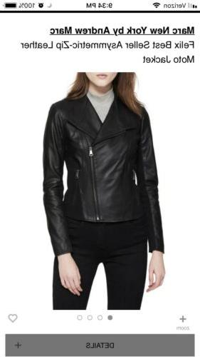 Marc Andrew Marc Womens Leather Motorcycle $480