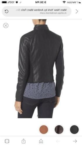 Marc Andrew Black Leather Jacket $480