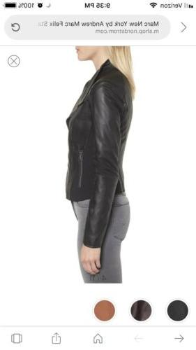 Marc Leather Motorcycle Jacket XL $480