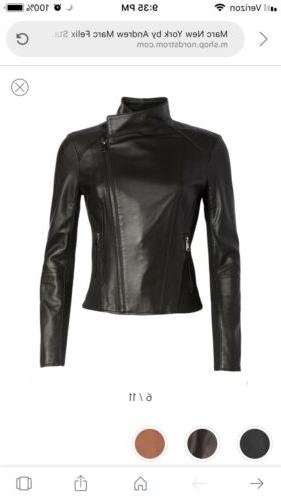 Marc New by Andrew Womens Leather Motorcycle Jacket $480