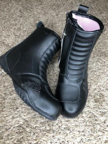Joe Trixie Motorcycle Boots Black