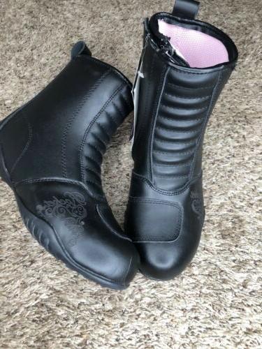 Women's Motorcycle Boots Black