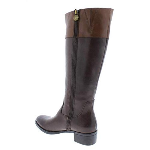 Franco Womens Leather Riding Boots Brown