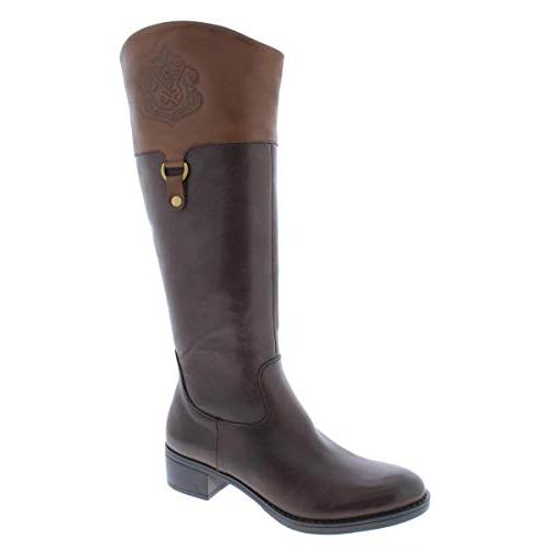 womens clarity leather riding boots brown 6