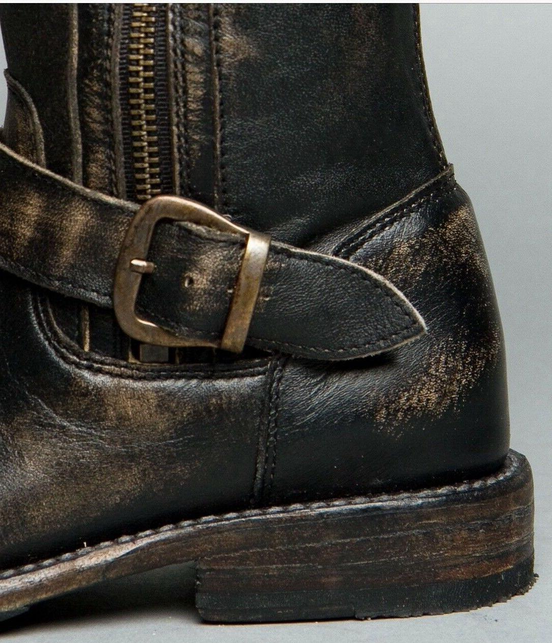 Womens STU Boots HAND WASH Leather Zippers $329