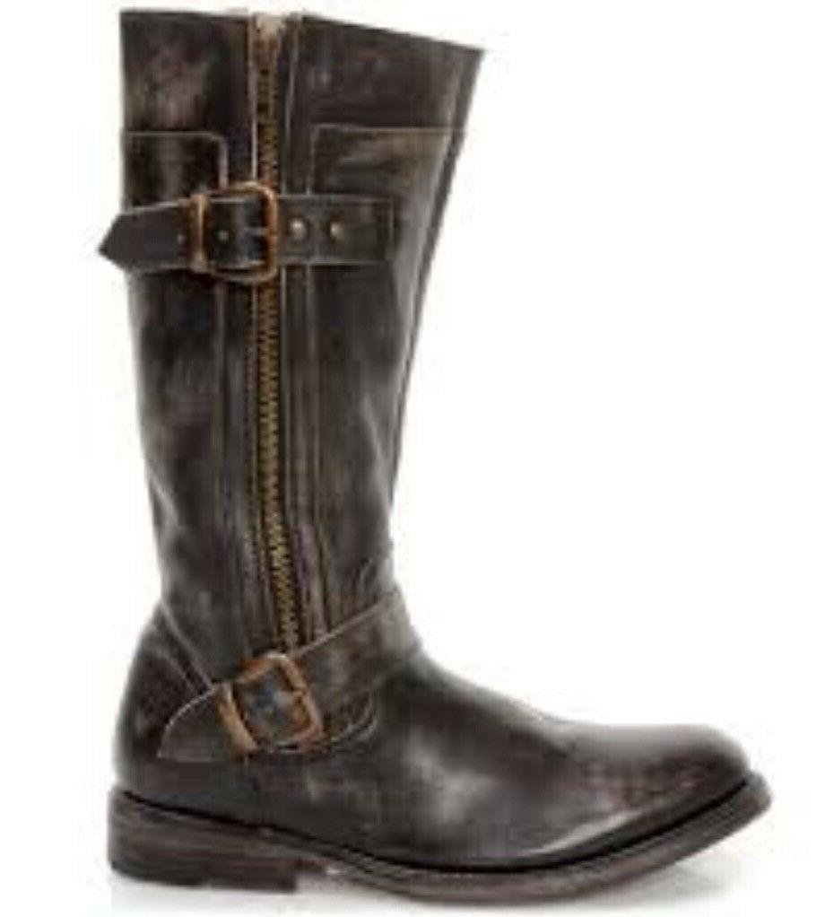 Womens Boots WASH Leather Double Zippers