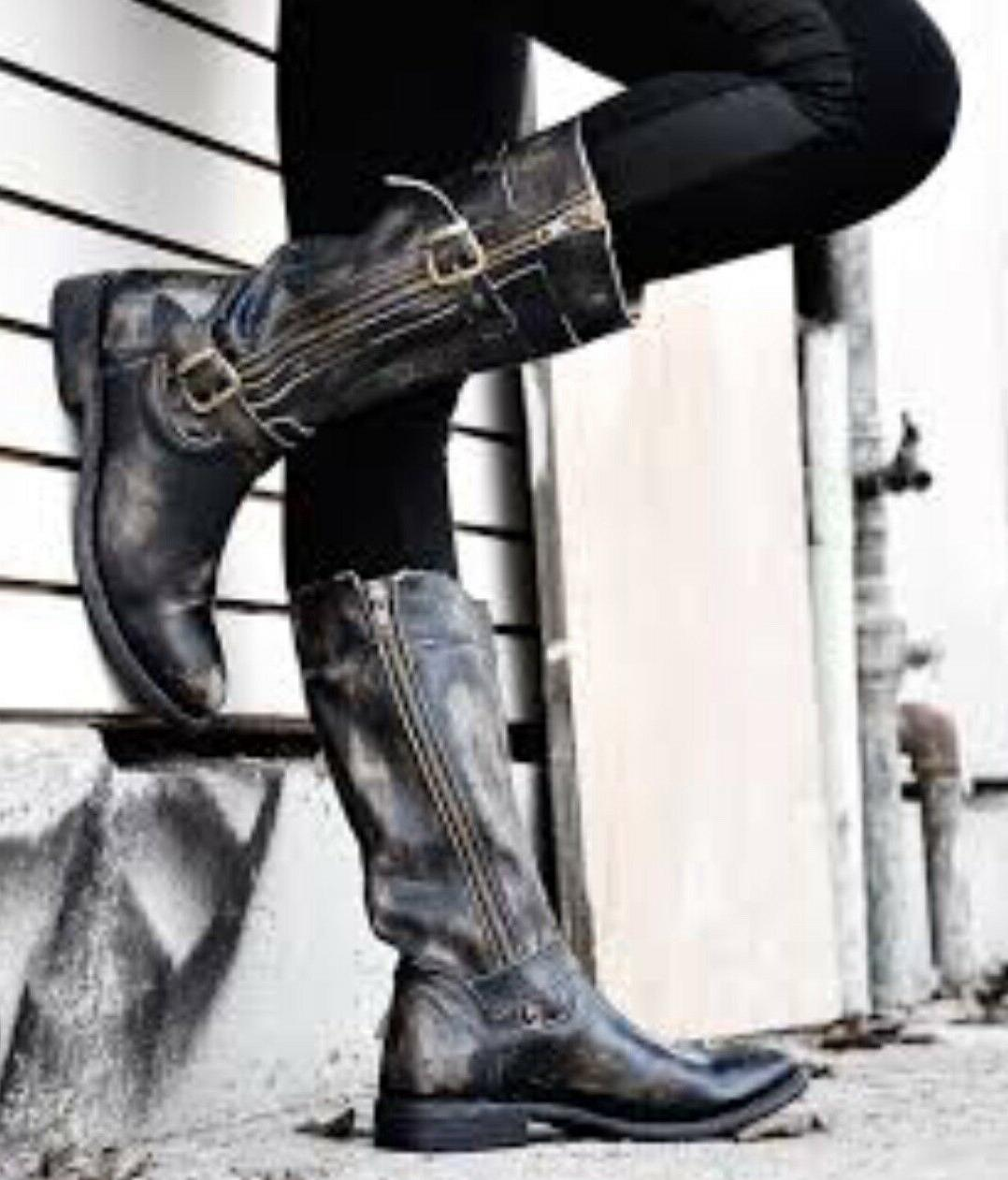 womens gogo boots black hand wash leather