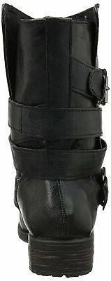 Rampage Womens Islet Closed Toe Fashion Black,