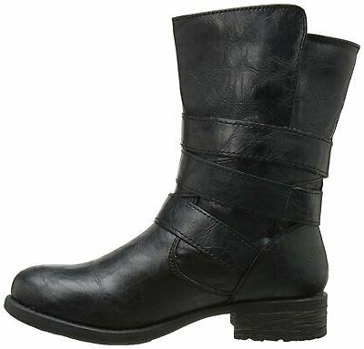Rampage Womens Islet Toe Boots, Black, 6.0