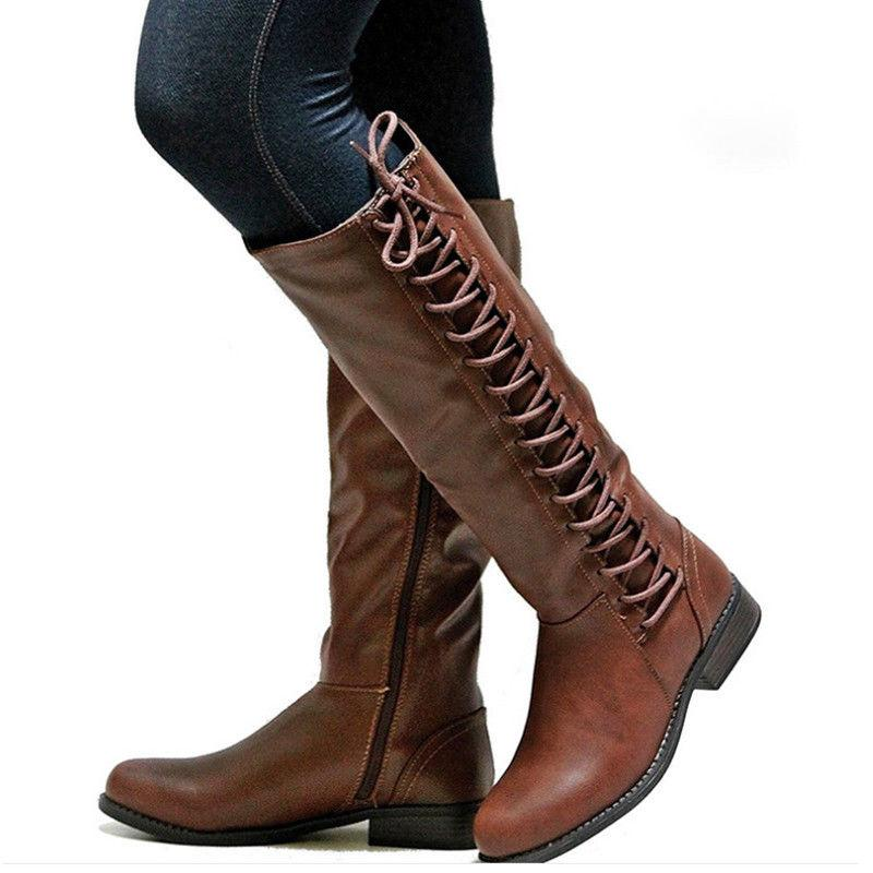 Women's Boots Side Up Shoes
