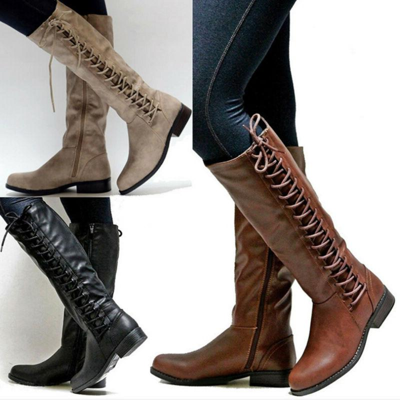 women s fashion knee high boots flat