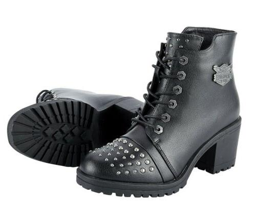 womens motorcycle studded waterproof boots shoes w