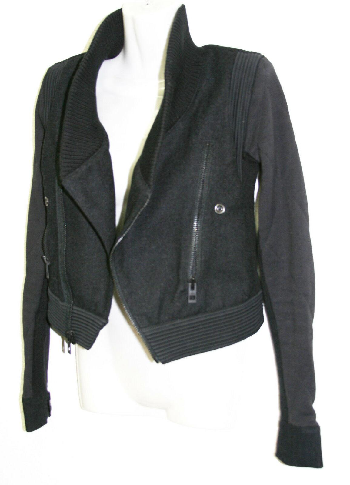 Womens Stella Mccartney Black Asymmetrical Jacket S