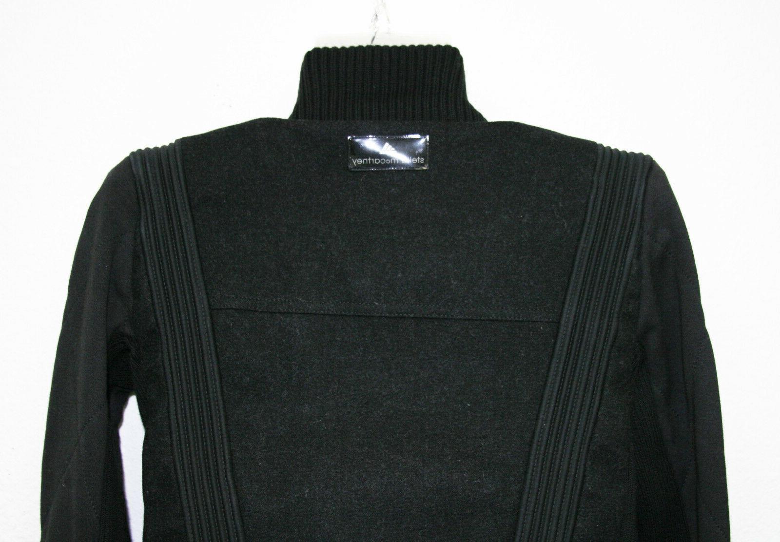Womens Mccartney Black Asymmetrical Biker Jacket 36