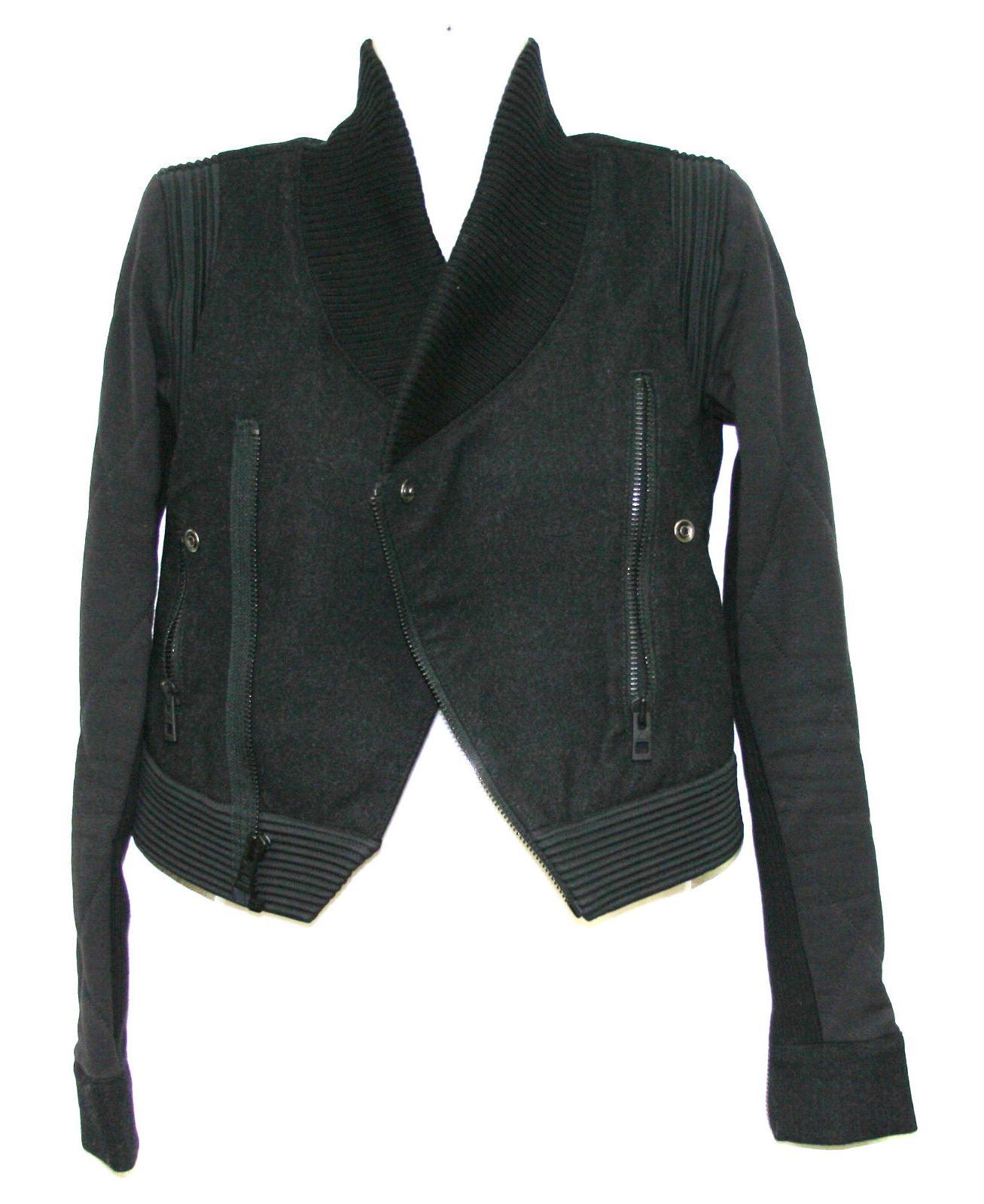 womens x stella mccartney black asymmetrical biker