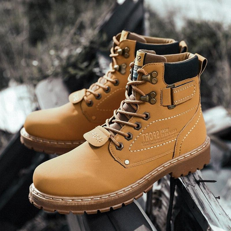 Yellow Mens Shoe Bot Coturno Botas Hombre Man 2019