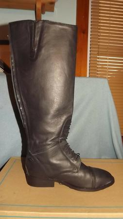 Leather Equestrian Riding Boots Field Motorcycle Horse Ridin