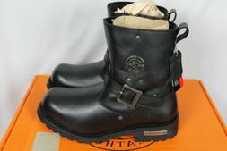 """Milwaukee Leather Mens 6"""" Engineer Black Motorcycle Boots 10"""