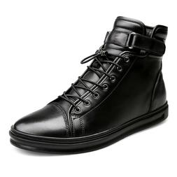 Men Autumn Winter Ankle Boots Casual Leather Shoes Motorcycl