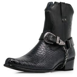 men black cowboy western boots shoes leather