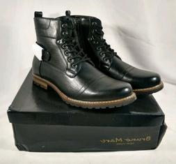 BRUNO MARC NEW YORK Men Motorcycle Riding Ankle Boots Sz. 11