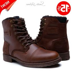 Men Motorcycle Winter Boots Durable Combat Chukka Shoes Wate