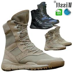 Men Motorcycle Work Military Tactical Ankle Boot Army Hiking