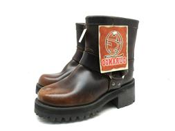 """Durango Men's 7"""" Harness Motorcycle Leather Boots DB2194 Bro"""