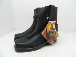 """Durango Men's 7"""" Harness Motorcycle Leather Boots DB710 Blac"""