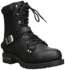 "Ride Tec Men's 9146 8"" Zipper Lace Black Work Boot, 10.5 M U"