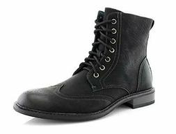 Men's 939A Wing Tip Ankle High Military Combat Fashion Motor