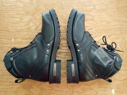 Milwaukee Leather Men's Boots w/ Side Zipper Entry & Plain T