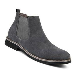 Men's Chelsea Boots Ankle Genuine Leather Shoes Slip-on Moto