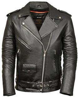 Milwaukee Men's Classic Side Lace Motorcycle Jacket