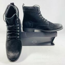 206 Collective Men's Denny Suede Lace-up Motorcycle Boot Bla