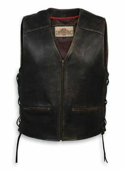 Milwaukee Motorcycle Clothing Company Men's Distressed Leath