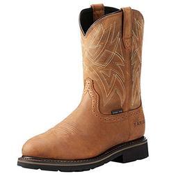Ariat Men's Everett Round Steel Toe Waterproof Work Boots -