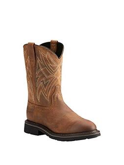Ariat Men's Everett Round Toe Embroidered Pull-On Work Boots