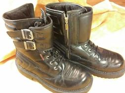 Men's Harley Davidson Black Leather Motorcycle Boots 10.5 D