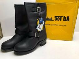 AdTec Men's Leather 1440 Engineer Motorcycle Logger Boots 11